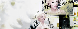 'Scarlett Johansson', Facebook Cover | Winterowl by taxitoheaven