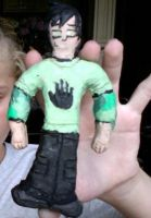 I made Trent out of clay XD by Adeladee
