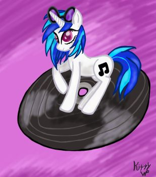 Vinyl Scratch Drawing by KittyWish5