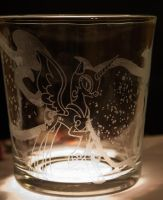 Nightmare Moon Glass Etching by TecknoJock
