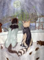 Pipster Wolves -Roof Singalong by ZiaRenete13x