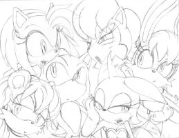 REQUEST- Sonic and Gals by AdamBryceThomas