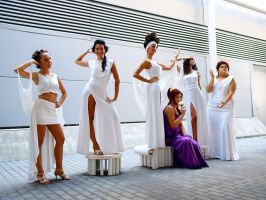 The muses and Megara by Cli88mir