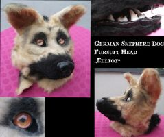 German Shepherd Dog Fursuit Head Elliot by weisewoelfin