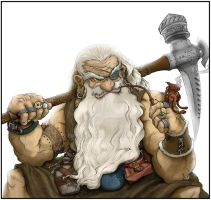 Inkthinkers Dwarf Coloured by BikerScout