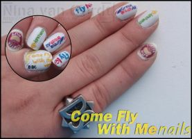 come fly with me nails by Ninails