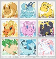 Eeveelutions a la PUDGE by dizziness
