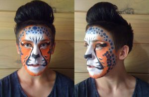 Leopard face paint by XxShoneSoBrightly