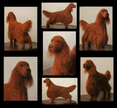 Mr Darcy - needle felted dog by flyingduster