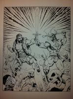 Realm of the Underworld mini-comic cover inks by WestStudio3