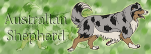 Bookmark - Australian Shepherd by johndimplechester