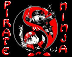pirate vs ninja by hightower67