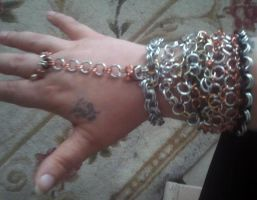 My Hubsand's First Chainmail bracelet by WyckedDreamsDesigns