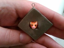 Ceiling Cat Charm by nemuineko85