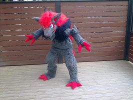 My Zoroark fursuit 2 by RaviTheBlueTiger