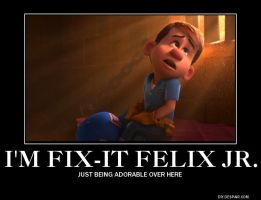 Fix-It Felix Junior Demotivational by PerryTheTeenageGirl