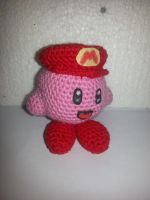Kirby with Mario hat by Dilletant1