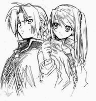edward and winry by sharel