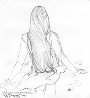 Her hair fell in waves -SKETCH FEST 32 by Katerina-Art