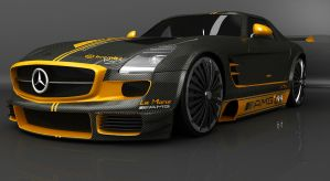 Mercedes SLS Racing 2 by INsomniaDS