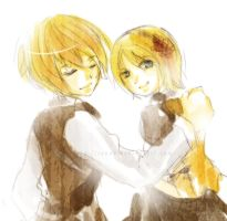 kagamine doodle by Renue
