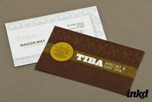 Exclusive Spa Business Card Te by inkddesign