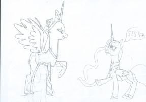 Rough Sketch: My little crossover. by elyet123