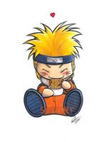 Chibi Naruto sticker design by Bee-chan