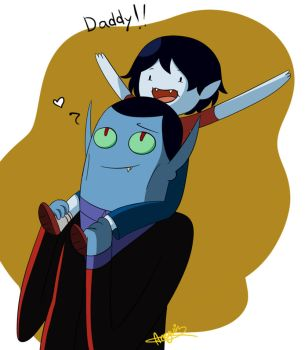 Hunson and Marcy: Daddy and daughter by Snowflake-owl