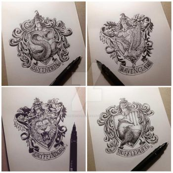 HP House Crests by kerbyrosanes