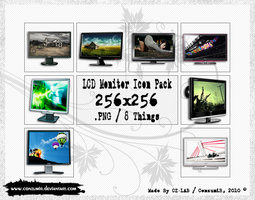 LCD Monitors Icons Pack by conzumir