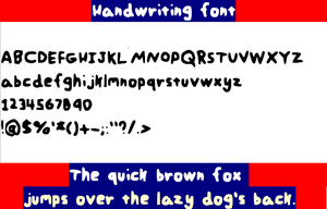 Handwriting font by Kai-TheDragon