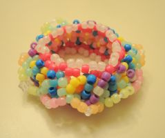 3D Cute and Happy Kandi Cuff by XDElisabeth69