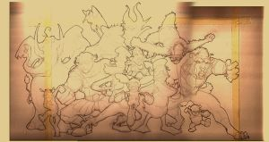 disney street fighter LINES by C-CLANCY