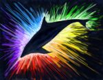 digital rainbow glow by Moray-orca