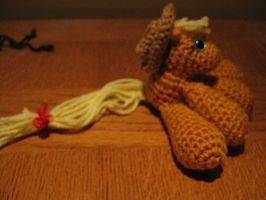 Mini Applejack Plushie Amigurumi 4 by RTakeshi