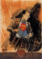 Superman: The Legend sketchcard 54 by RobertHack