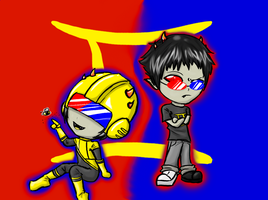 Chibi Sollux and mituna~ by MarlieNicole