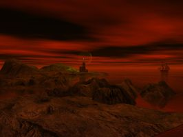 The lighthouse at G'r'nair by DarkRiderDLMC
