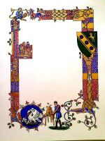 Dafydd's Order of the Pelican Scroll by hollyann