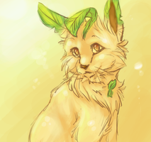 Leafeon Sketch by Butterfly-Pants