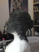 weeping angel sculpture side by made-me-a-monster