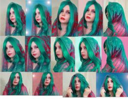 Green Hair Unedited and Edited by bluepaws21