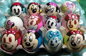 Minnie Mouse Easter eggs by Rene-L