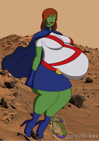 Young Justice Miss Martian Pregnant by bellylov3r77