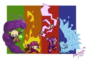 Crossover-League of Crashers by Albaharu