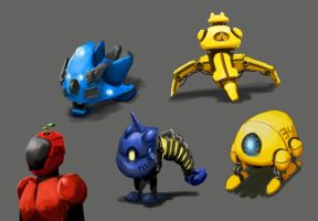 Misc. Robots by Jeffufu