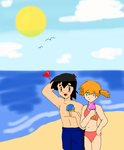 Pokeshipping Summer (requested) by TrainerAshandRed35