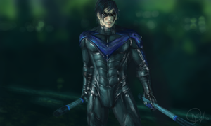 Nightwing paint practice by mangakasan