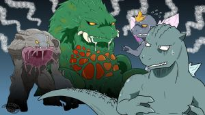 Godzilla looks delicious by nesise
